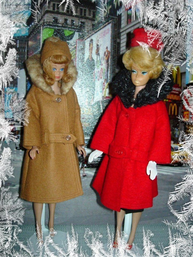"BARBIE VINTAGE BUBBLE CUT - MIDGE ANCIENNE - ""IT'S COLD OUTSIDE"" ..."