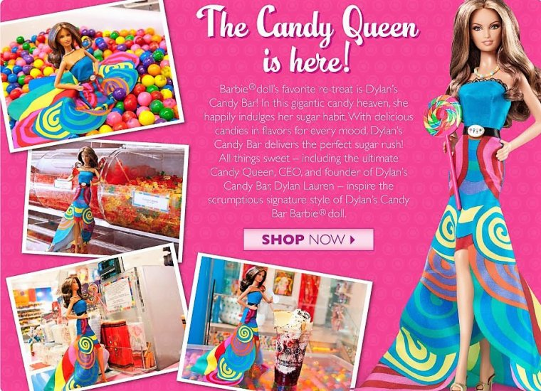 """BARBIE FASHIONISTAS / MUSE """"DYLAN'S CANDY BAR"""" ..."""