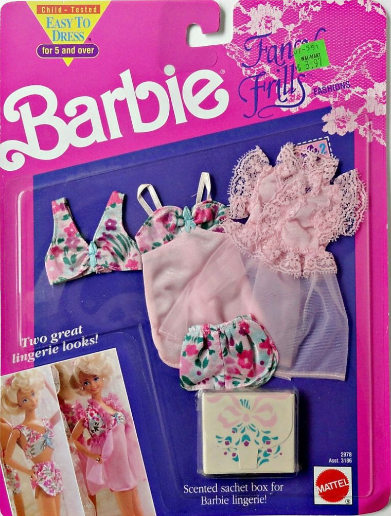 BARBIE ANNEE 90 : FANCY FRILL ou HABILLAGE LINGERIE ...