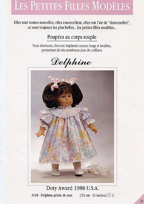"""POUPEE COROLLE de 52 cm """"DELPHINE"""" - 1988/1989 ..."""