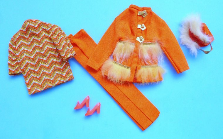 "VINTAGE P. J. TNT L'AMIE DE BARBIE VINTAGE AVEC ""FUR SIGHTED"" de 1970"
