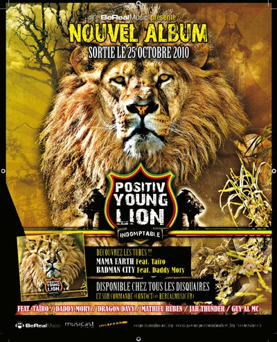 "POSITIV YOUNG LION ""I ndomptable "" nouvelle album"