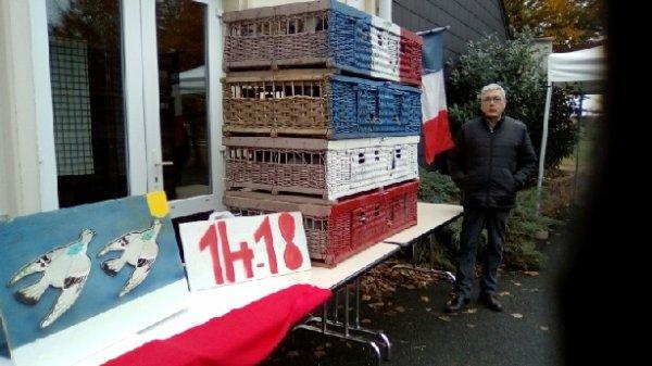 Nos pigeons pour honorer nos anciens combattants à l'occasion des 100 ans de l'armistice, mais aussi pour rappeler leur role lors de la grande guerre.