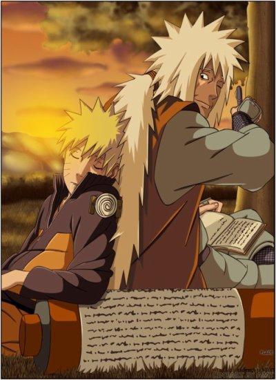 Jiraya et Naruto