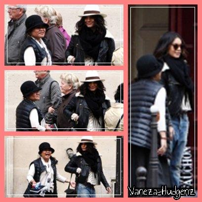 Vanessa Hudgens: Le 05/04/11 à Paris. Elle se balade dans les rues de Paris pour aller faire du shopping avec sa mère Gina.