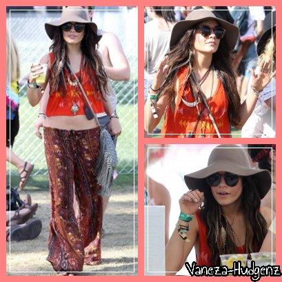 Vanessa Hudgens: Le 15 Avril à Indio. Vanessa au premier jour du Coachella Music Festival avec Josh Hutcherson.