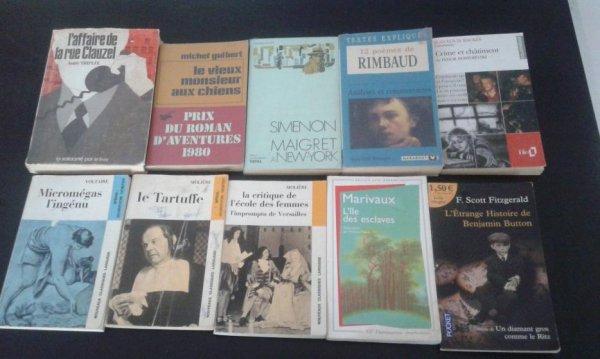 livres à 50 cents l'unité: