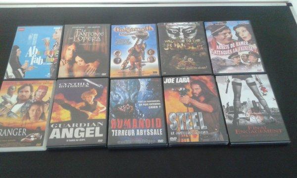DVD lot 1: 1.50 euros l'unité ou 10 pour 10 euros