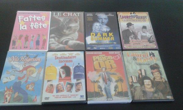 DVD lot 2: 1.50 euros l'unité ou 10 pour 10 euros