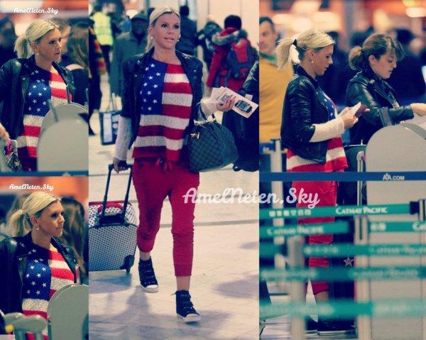 13 Janvier 2013 - Amélie à l'aéroport pour décoller direction Miami.