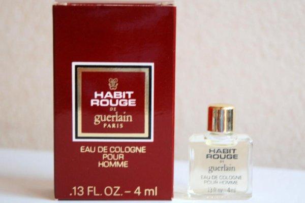 Habit Rouge de GUERLAIN (1982), modèle USA