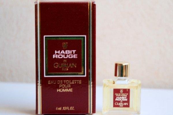 Habit Rouge de GUERLAIN (1992), boite 8,7 x 4,6 cm