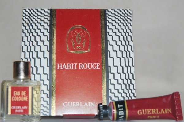 Habit Rouge de GUERLAIN (1965), coffret