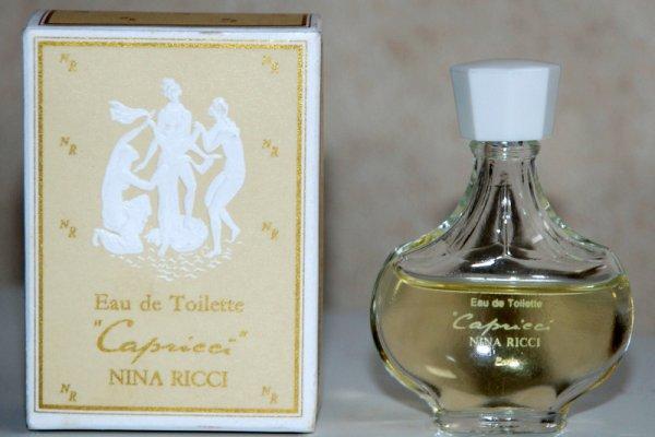 Capricci de RICCI - Création 1961 - Réplique flacon amphore boite beige nymphes