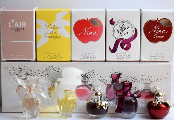 Coffret multi fragrances de RICCI avec boites individuelles - Suite