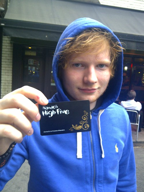 My best singer Ed Sheeran