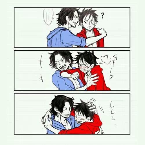 """➡Ace: """"J'ai l'impression qu'en fuyant...Je risquerais de perdre quelque chose de trop précieux Là, cette fois... Derrière moi... Il y avait Luffy."""