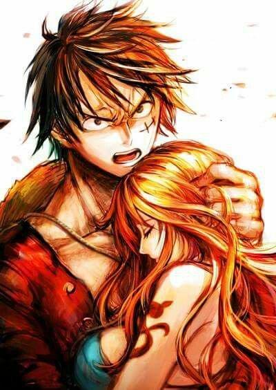 J'aime cette image de Luffy et Nami.
