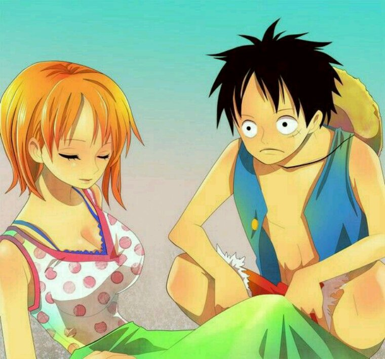 Luffy and Nami!