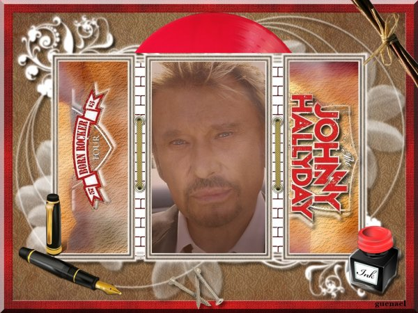 """JOHNNY  HALLYDAY    """" 20 ans """"    nouvelles creations"""