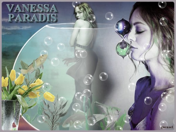 """VANESSA  PARADIS  """" les espaces et les sentiments """"  3 nouvelles creations diaporama  FB"""