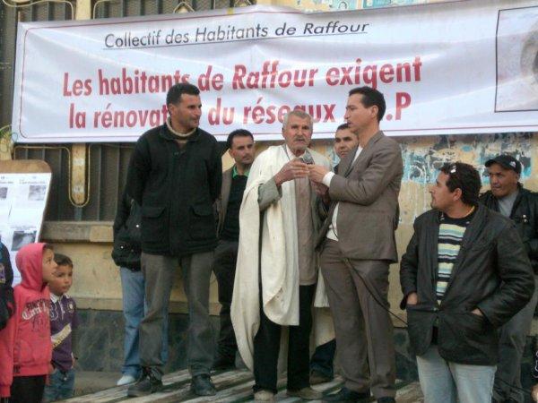 Les habitants de RAFFOUR exigent la rénovation du réseau A.E.P