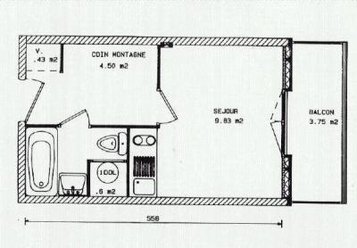 Le descriptif et le plan du studio 20m balcon menuires - Plan studio studio m ...