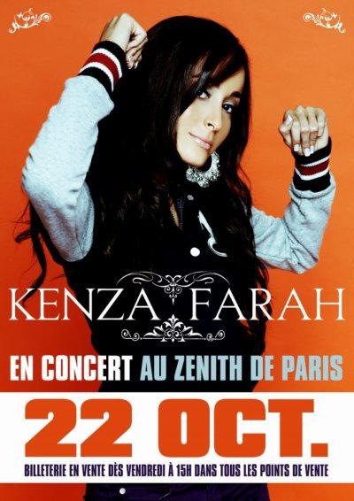 Kenza Farah en CONCERT au ZENITH DE PARIS le 22 OCT.