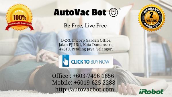 Kick Ass Roomba 890 Wifi Connected iRobot Company in Aeon Tebrau City