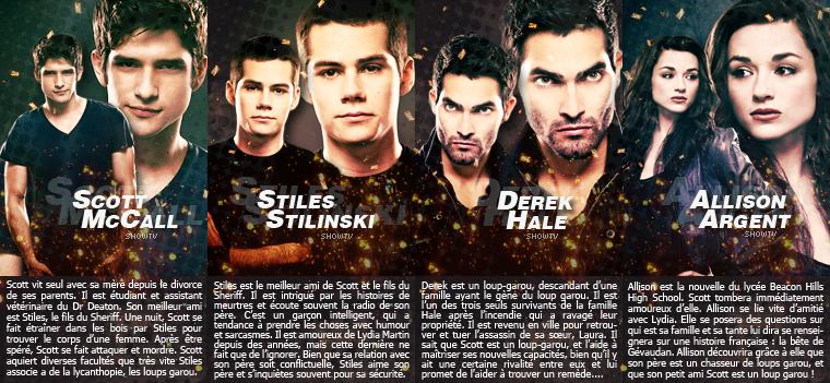 _■ Les personnages de Teen Wolf Tv Show !__■ Personnages principaux et secondaires, quel est où sont vos personnages favoris de la série ?