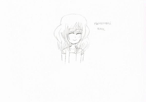 dessin hinamori amu (avant d'être collorier)