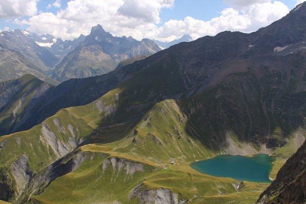 Rando au lac de la Muzelle - Col du Vallon - Lac du Lauvitel ( Août 2016)