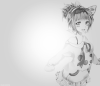 Image / Fille manga noir et blanc 2