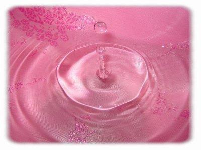 de l ' eau rose