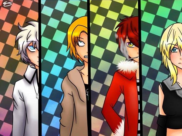 Mes quatres personnages principaux !