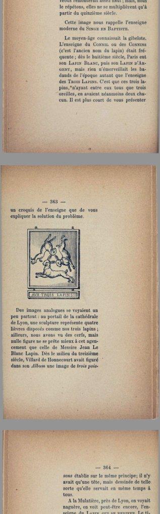 Trois lièvres L'hostellerie aux trois lapins - Paris - France