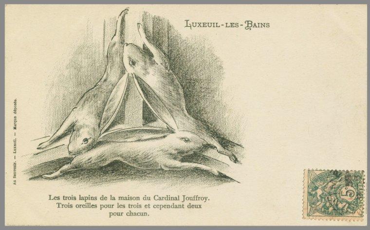 Trois lièvres Maison du cardinal Jouffroy -  vers1400 LUXEUIL - France