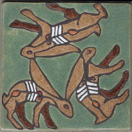 Trois lièvres Drei hasen Three hares Le plus gros motif des trois lièvres
