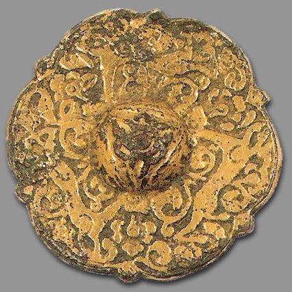 Trois lièvres Drei hasen Three hares Garniture de ceinture au triscèle de lièvres Iran periode seljouquide XII-XIIIeme siècle