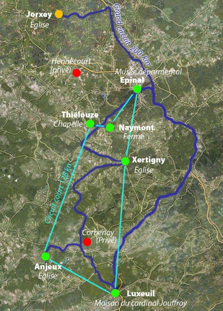 Trois lièvres Drei hasen Three haresCircuits des trois-lièvres dans la vôge :