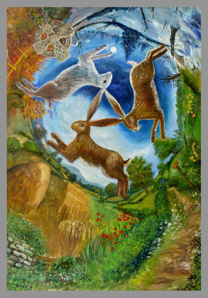 Trois lièvres Drei hasen Three haresGordon Napier - UK