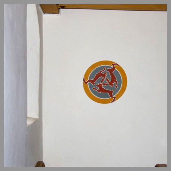 Trois lièvres Drei hasen Three haresSuisse Couvent Saint Joseph - Muotathal