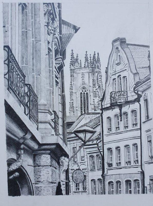 . . . Rue de Lausanne à Fribourg . . .