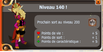 Enfin up lvl 140