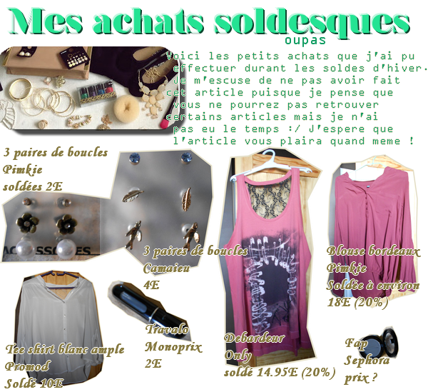 Achats soldes