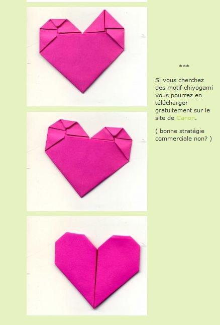 Pliage origami : coeur <3