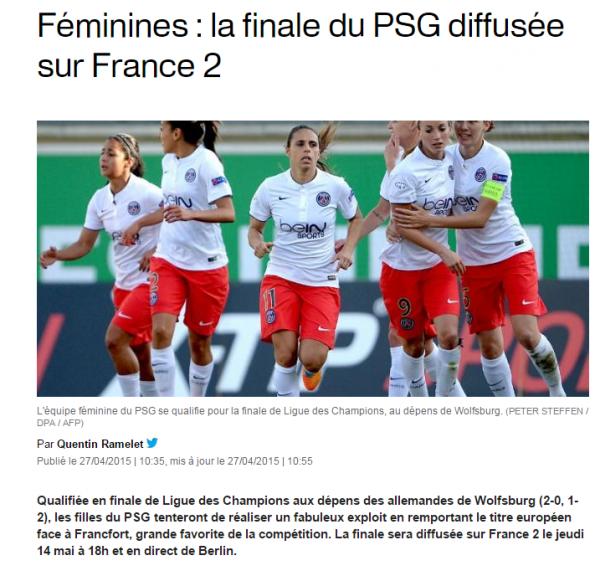 PSG FILLES Finale de la ligue des champions
