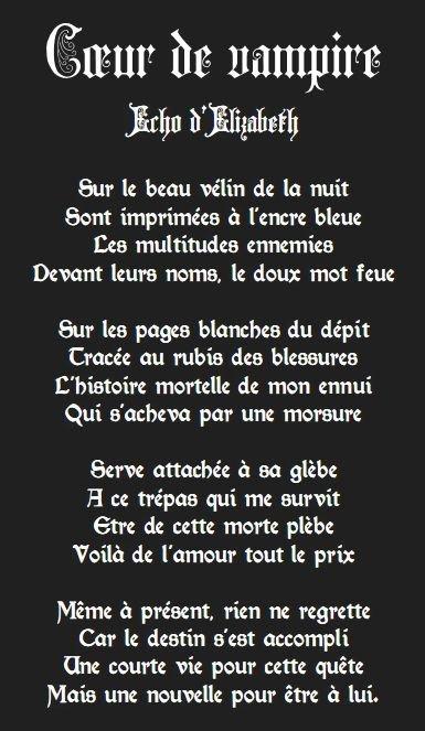 Ode des vampires
