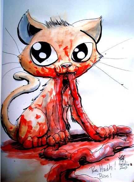 Le chat à bouffé les boyaux du pépé mdr (voyez donc la perf lol)