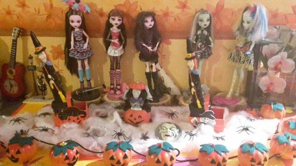 Halloween en plein délire ce soir lol (vous m'avez reconnu lol)
